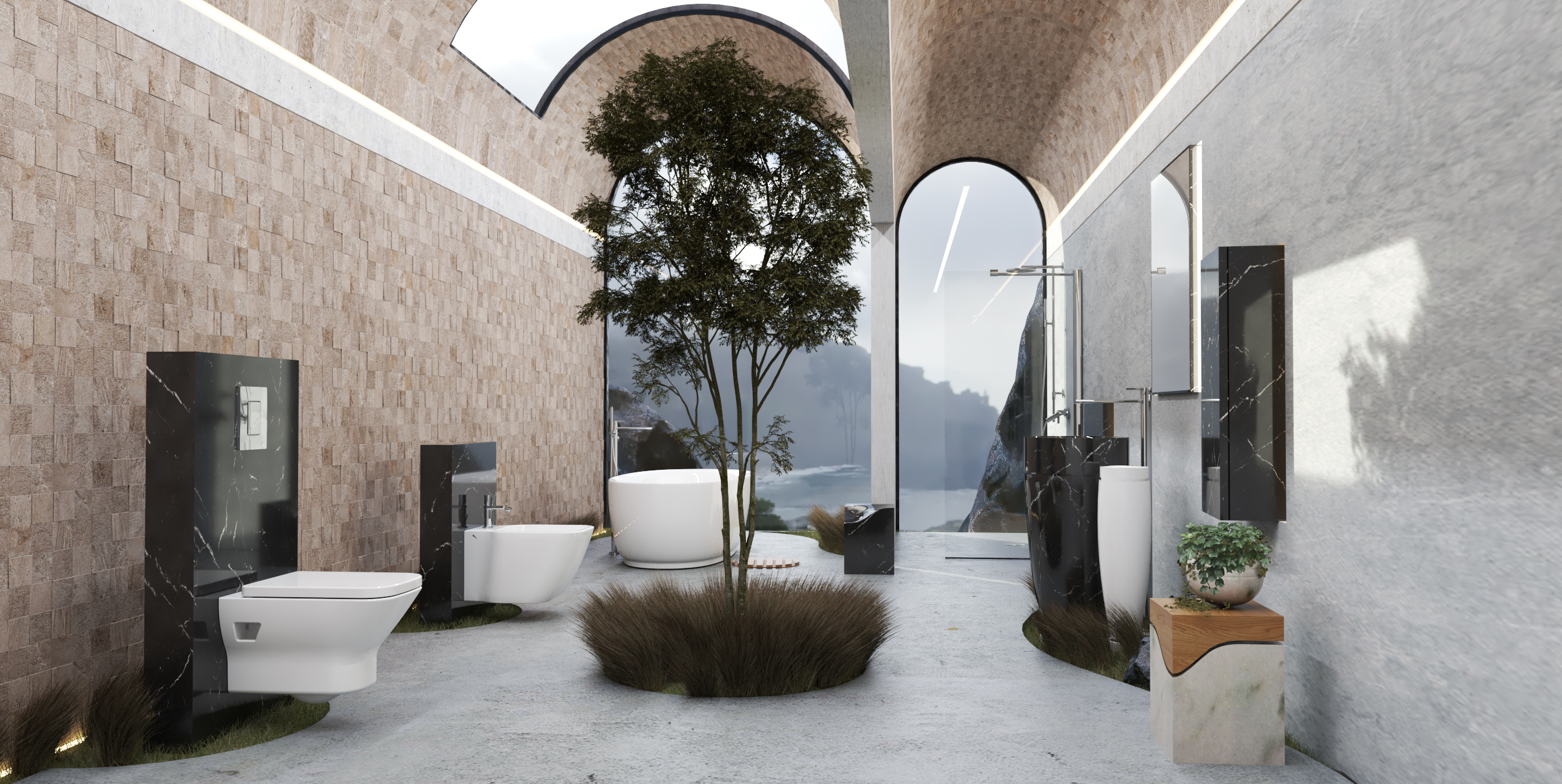 Porcelanosa Bathroom-Garden