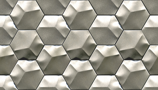 METAL ACERO HEXAGON 25,2X26,2